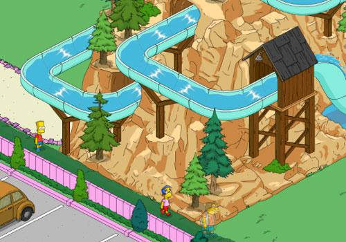 Барт, Нельсон и Милхауз на Банальном бревне