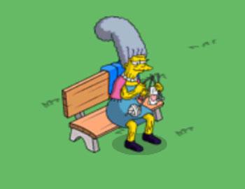 Миссис Бувье вяжет