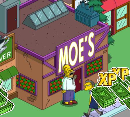 Гомер пьет с дедушкой в таверне Мо