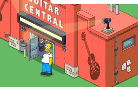 Гомер в гитарном центре