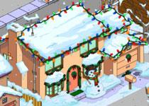 Рождественский дом Симпсонов