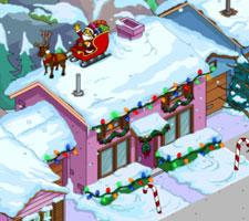 Рождественский пурпурный дом