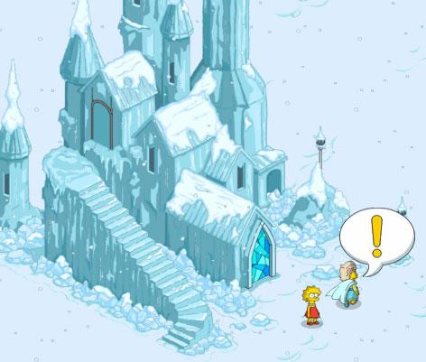 Лиза смотрит ледяной дворец