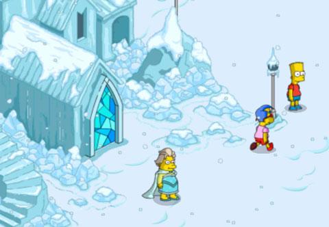 Дети защищают ледяной дворец от скульпторов