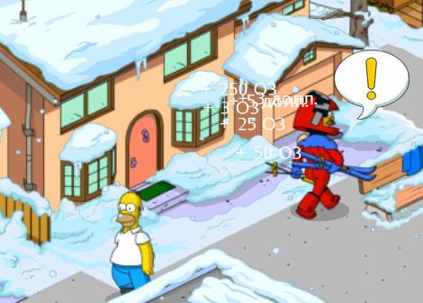 Модник Фландерс преследует Гомера во сне