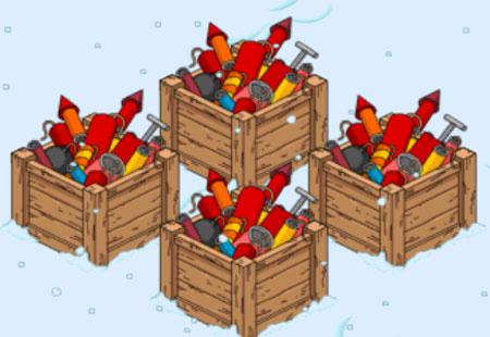 Ящики с фейерверками
