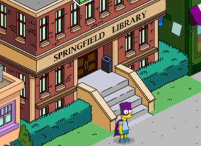 Бартмэн в засаде в библиотеке