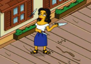 Франческа жонглирует ножами