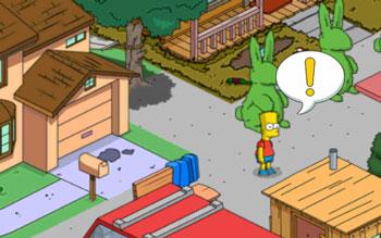 Барт смывает женские духи дома