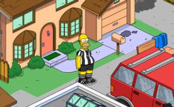 Гомер надевает костюм