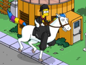 Барт-жокей на коне