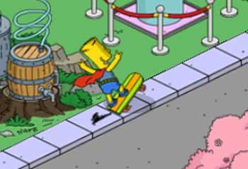 Барт выполняет опасные трюки