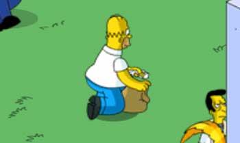 Гомер собирает мусор