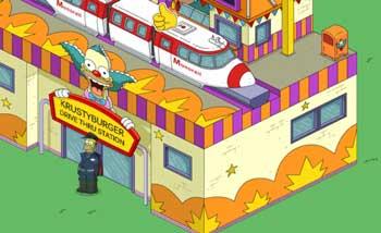 Гомер-машинист управляет поездом