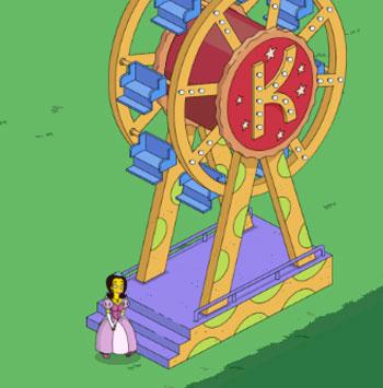 Красти с принцессой Пенелопой на гигантском колесе
