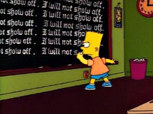 Барт Симпсон после уроков в школе
