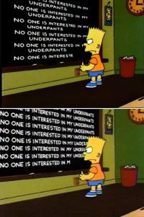 Барт Симпсон и школьная доска