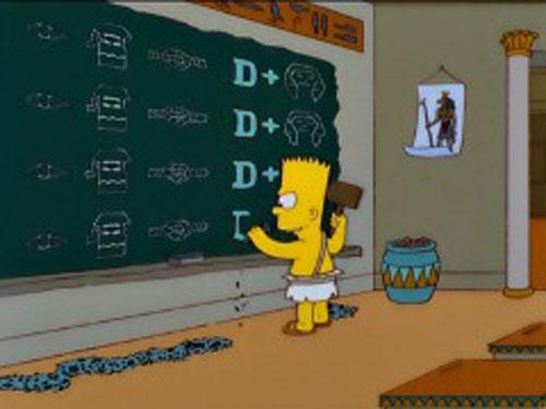 Барт Симпсон фраза на доске