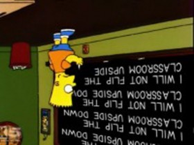 Фразы Барта на школьной доске