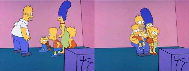 Симпсоны на стуле