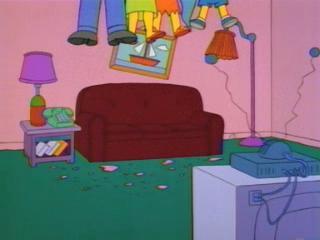 Симпсоны застряли в потолке