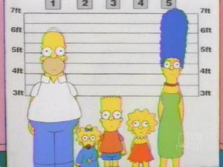 Симпсоны в полицейском участке