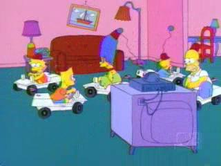 Симпсоны на машинках