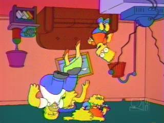 Симпсоны падают с потолка