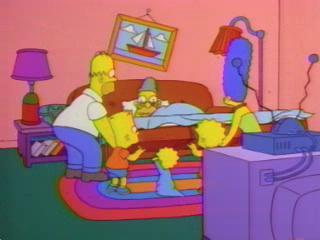Симпсоны и спящий дедушка
