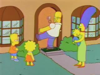 Гомер открывает дверь