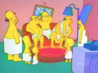 Симпсоны в сауне