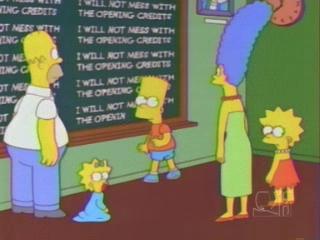 Симпсоны в школе у Барта