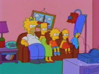 Симпсоны с разными волосами