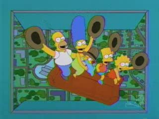 Симпсоны сбрасывают с диваном