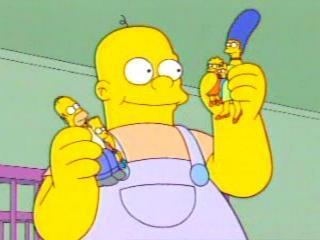Гигантский ребенок берет Симпсонов