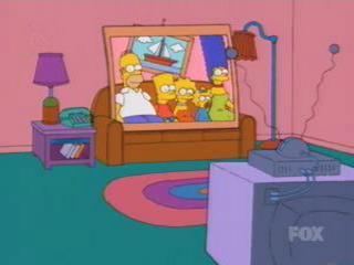 Полароид фото Симпсоны