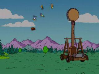 Катапульта и Симпсоны