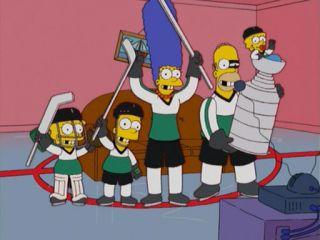 Симпсоны хоккей