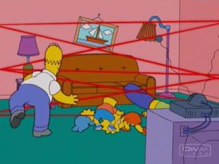 Лазерные лучи Симпсоны