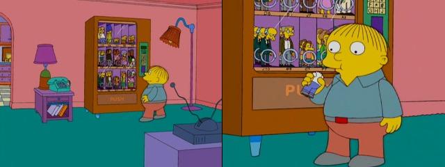 Ральф ест фигурку Гомера
