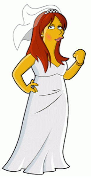 Донна Ноубл в свадебном платье