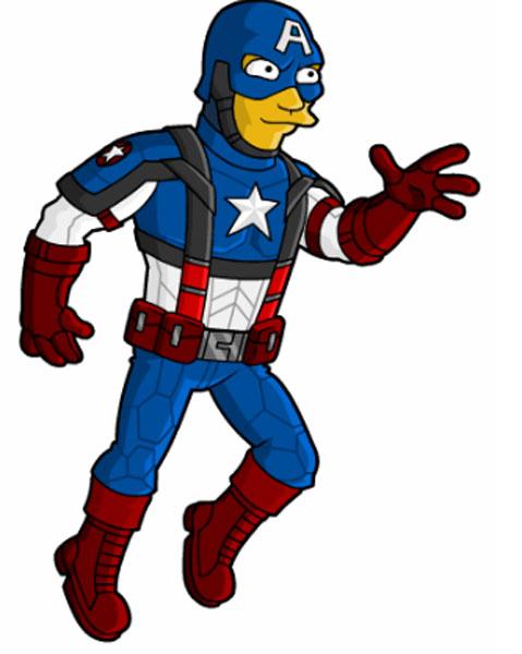 Супергерой комиксов Капитан Америка