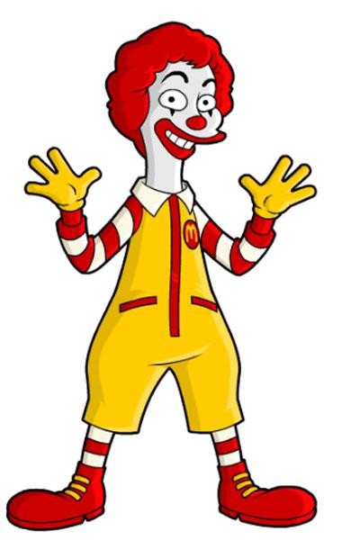 Клоун сети ресторанов Макдональдс
