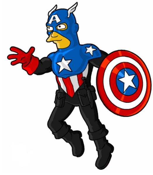 Мститель в стиле Капитана Америка
