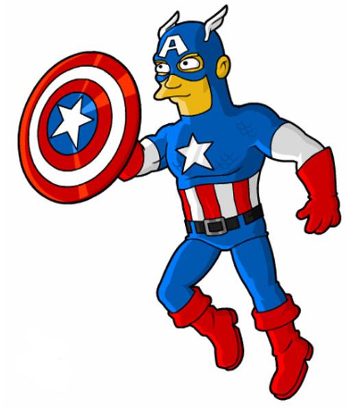 Супергерой Капитан Америка