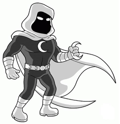 Герой комиксов Лунный Рыцарь