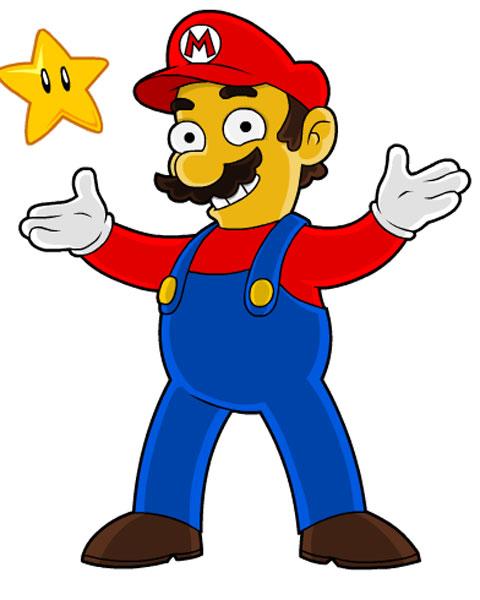 Герой супер Марио