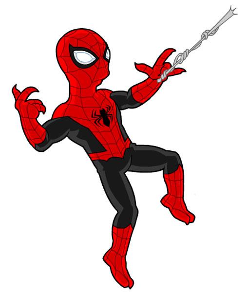 Человек-паук пускает паутину