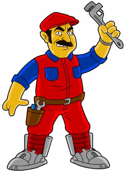 Водопроводчик Супер Марио