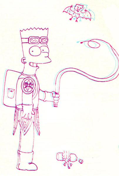 Барт Симпсон в 3d